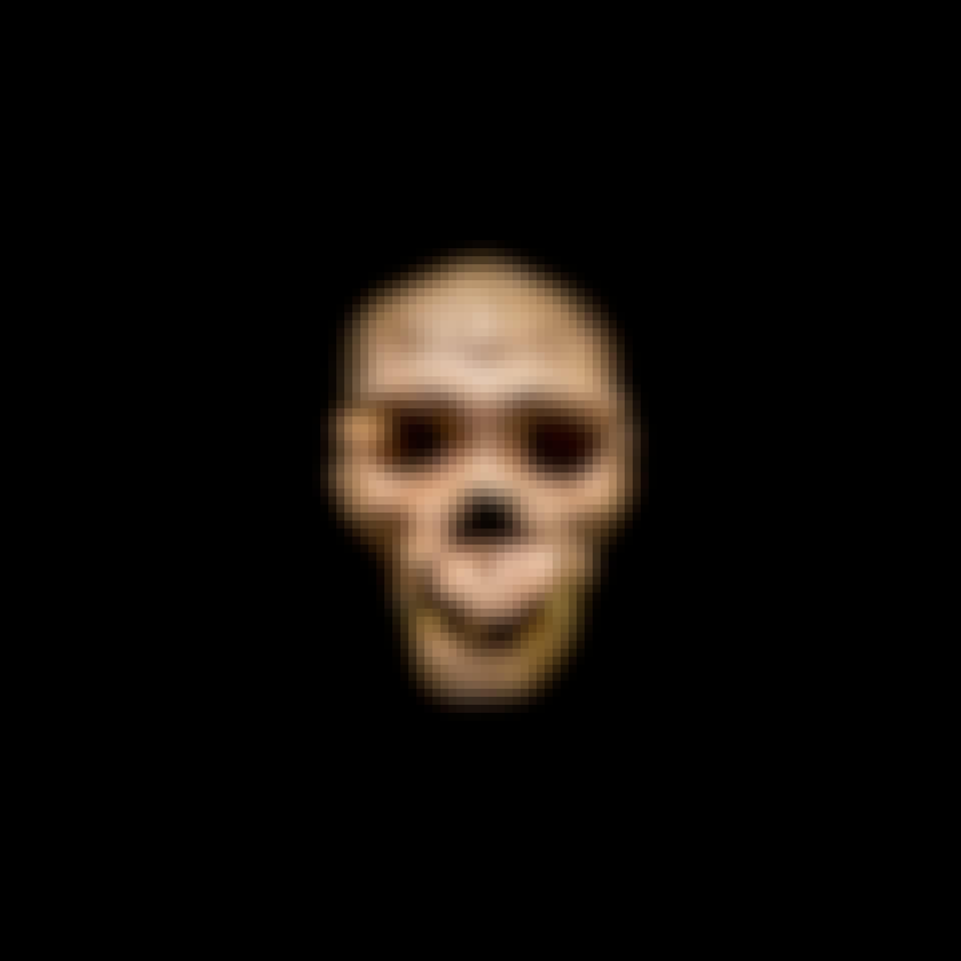 Fossil av Homo heidelbergensis kranium.