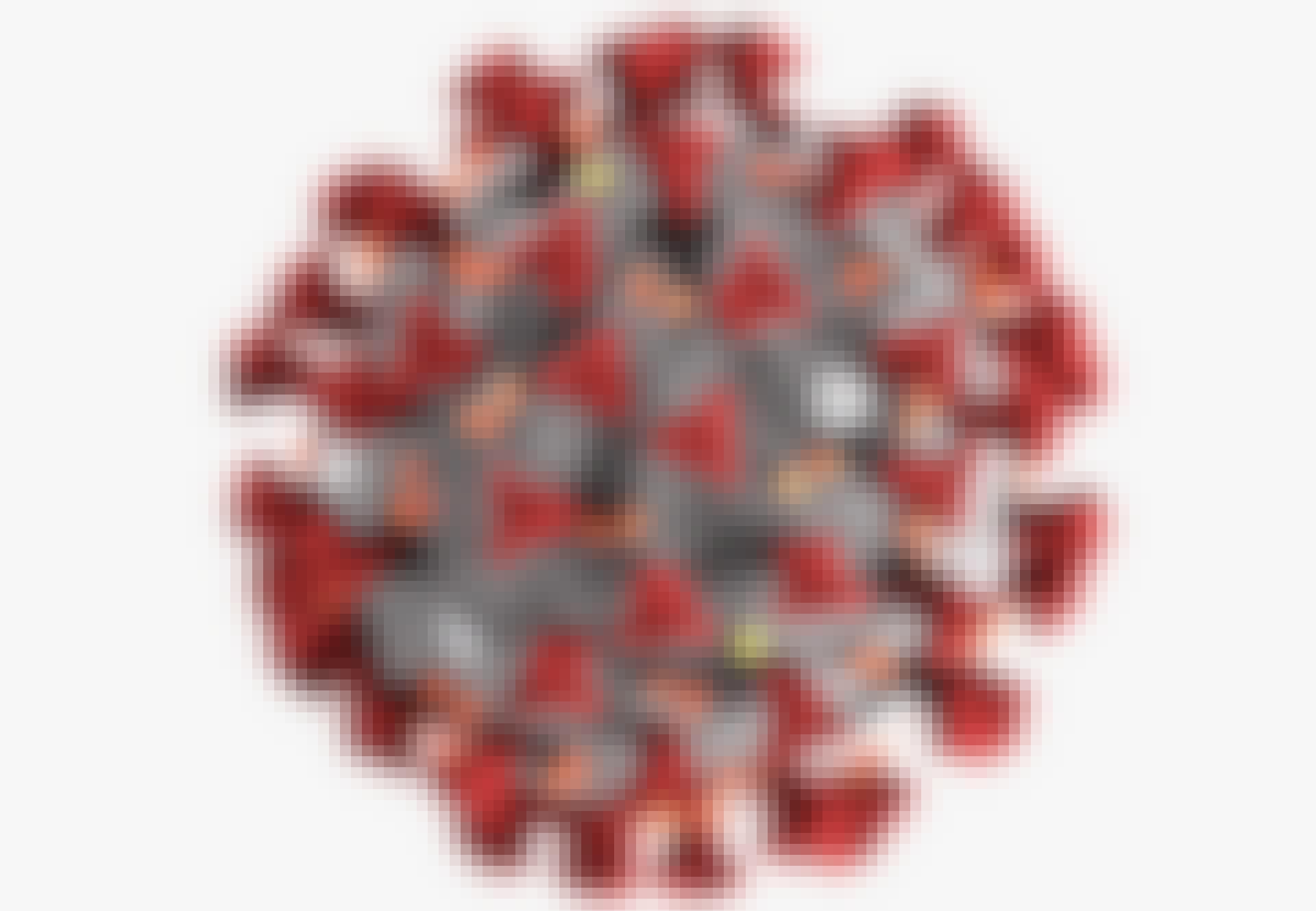Spike-eiwitten op het oppervlak van het coronavirus