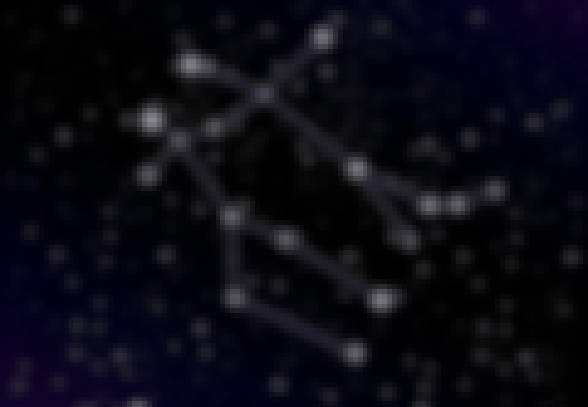 Stjärnbilden Tvillingarna på himlen