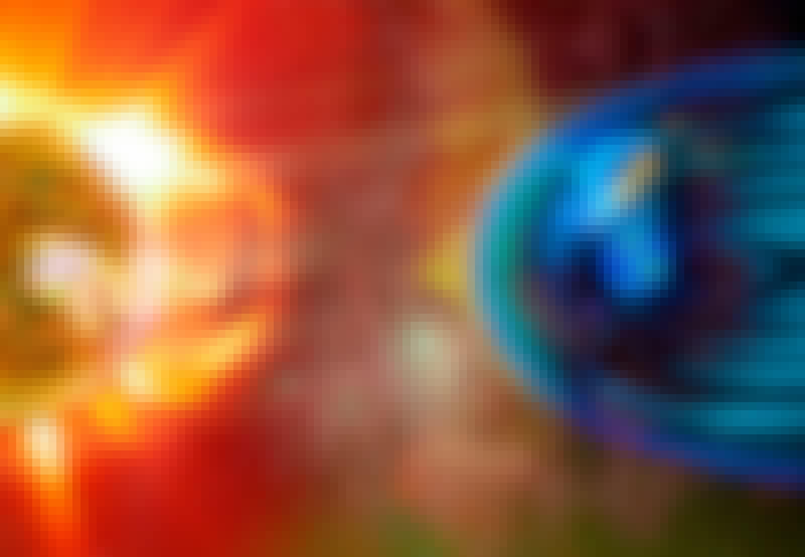 Jordens magnetfält avböjer solens strålning.