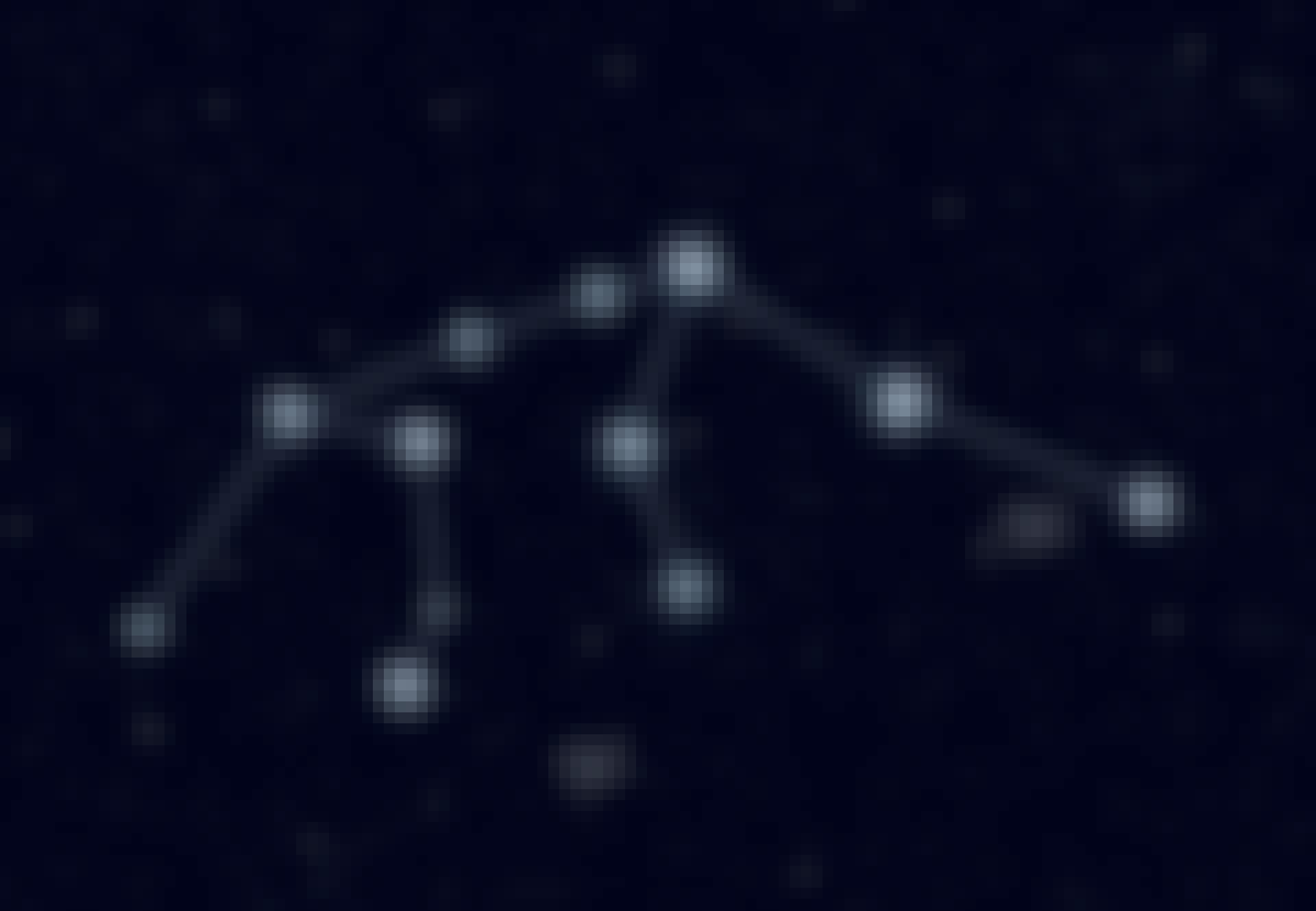 Stjärnbilden Vattumannen på himlen