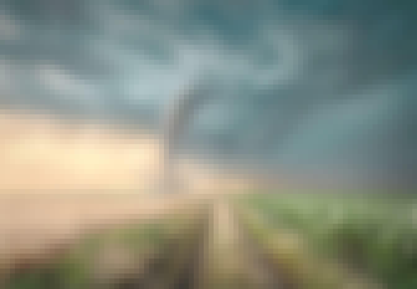 tornado på ett fält