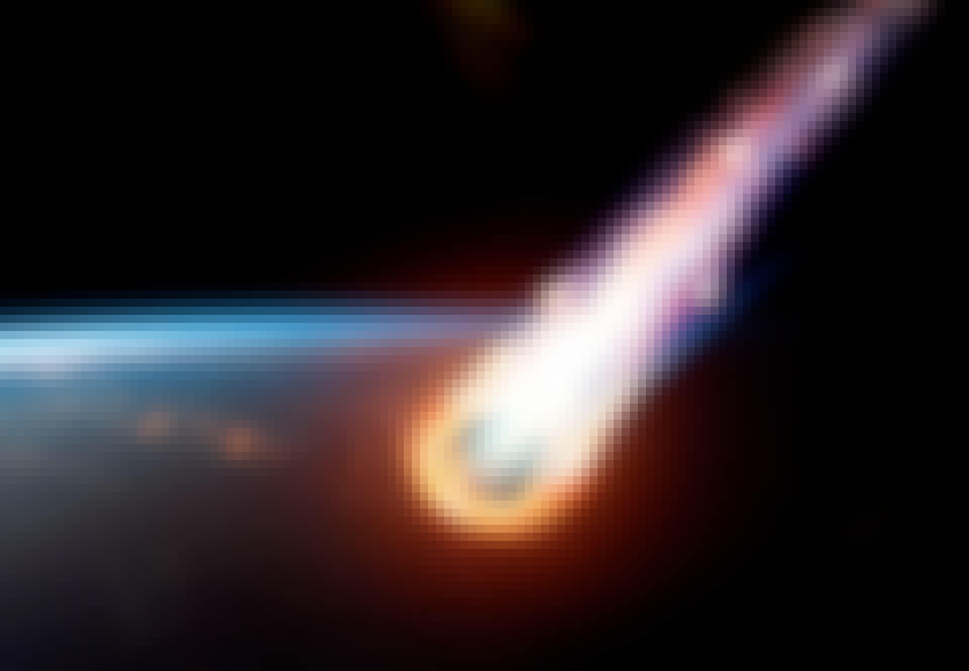 Meteorit falder mod Jorden
