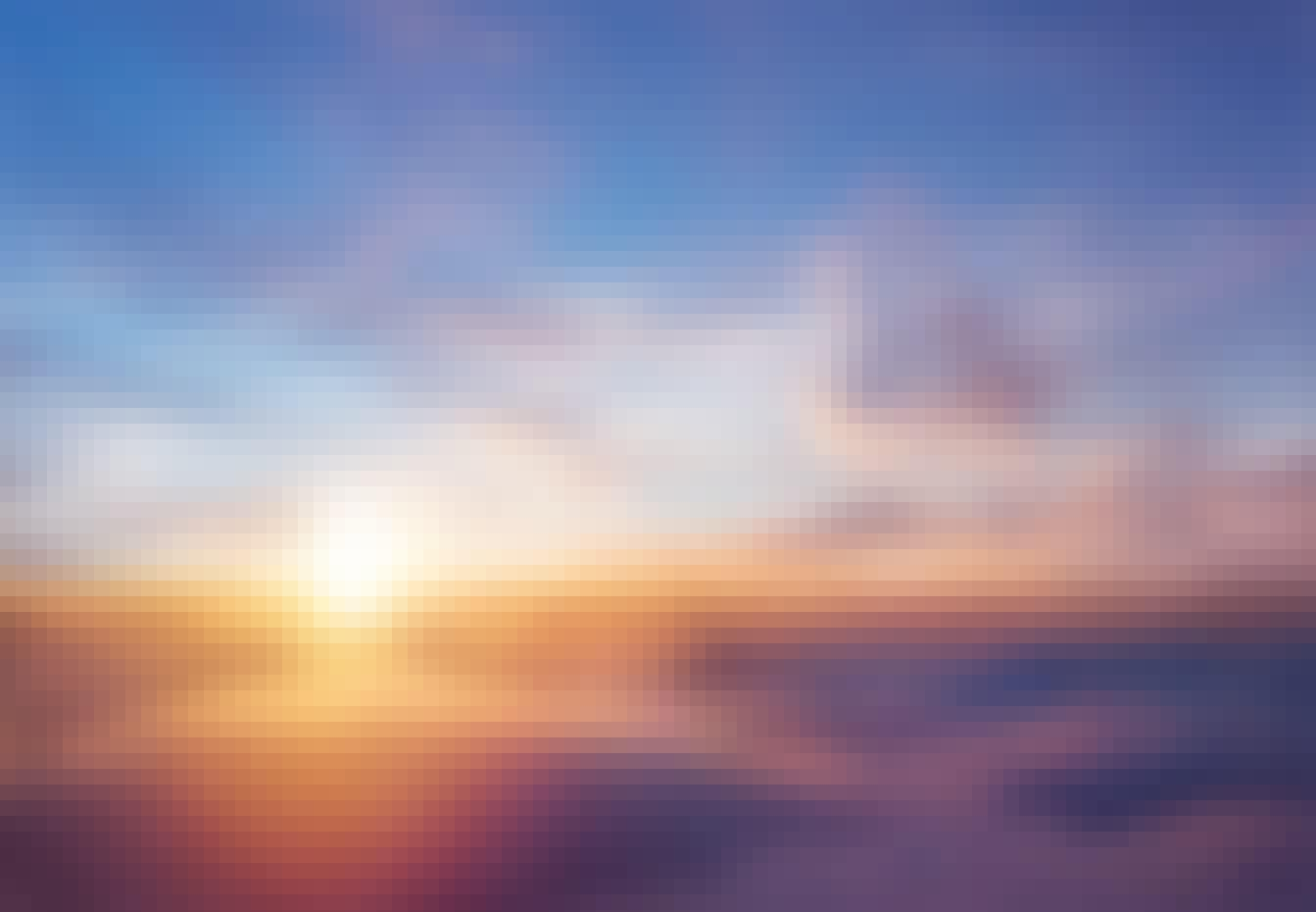 Solen försvinner under molnen