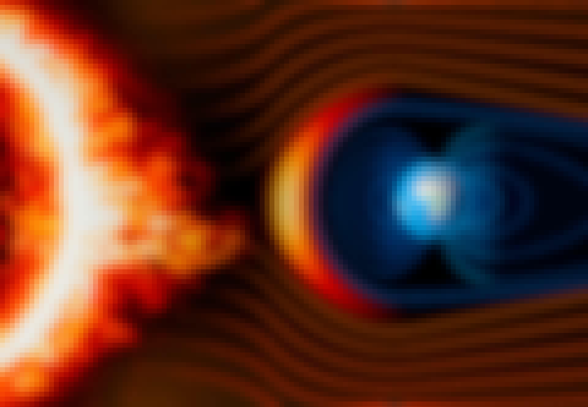 Jordens magnetfelt afbøjer Solens stråling.