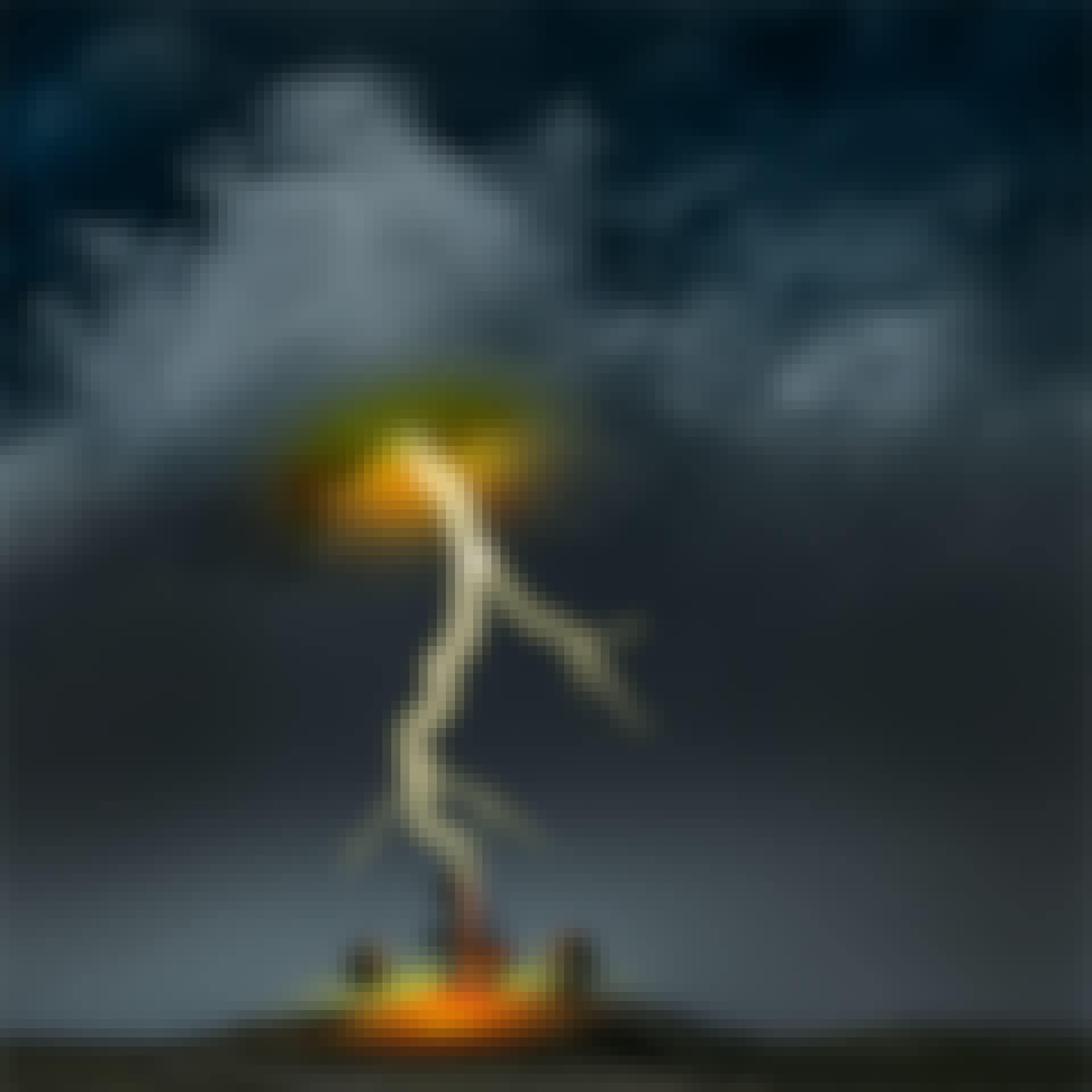 Jordens elektriska hjärtslag blixtnedslag