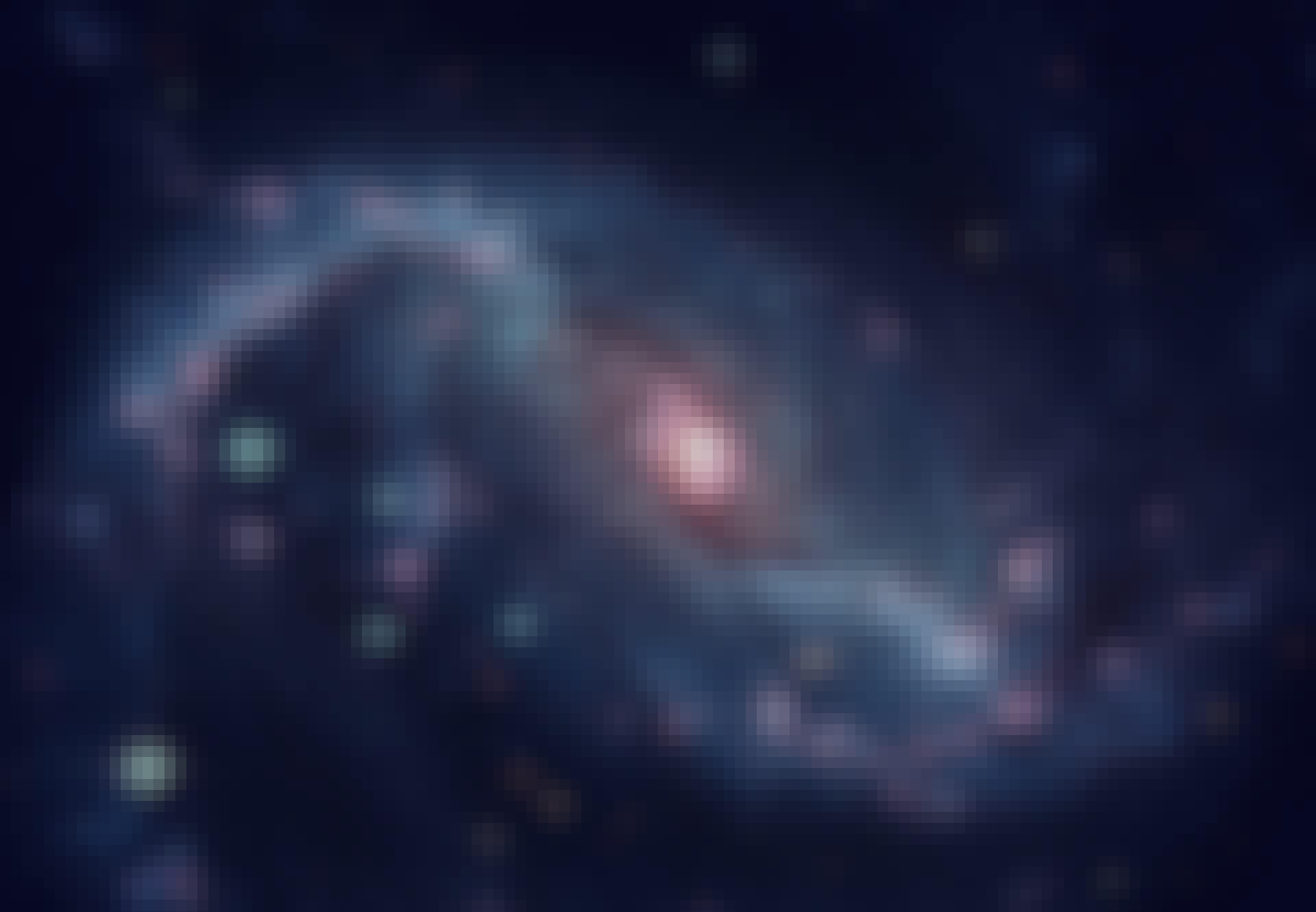 Spiral galakse i rummet