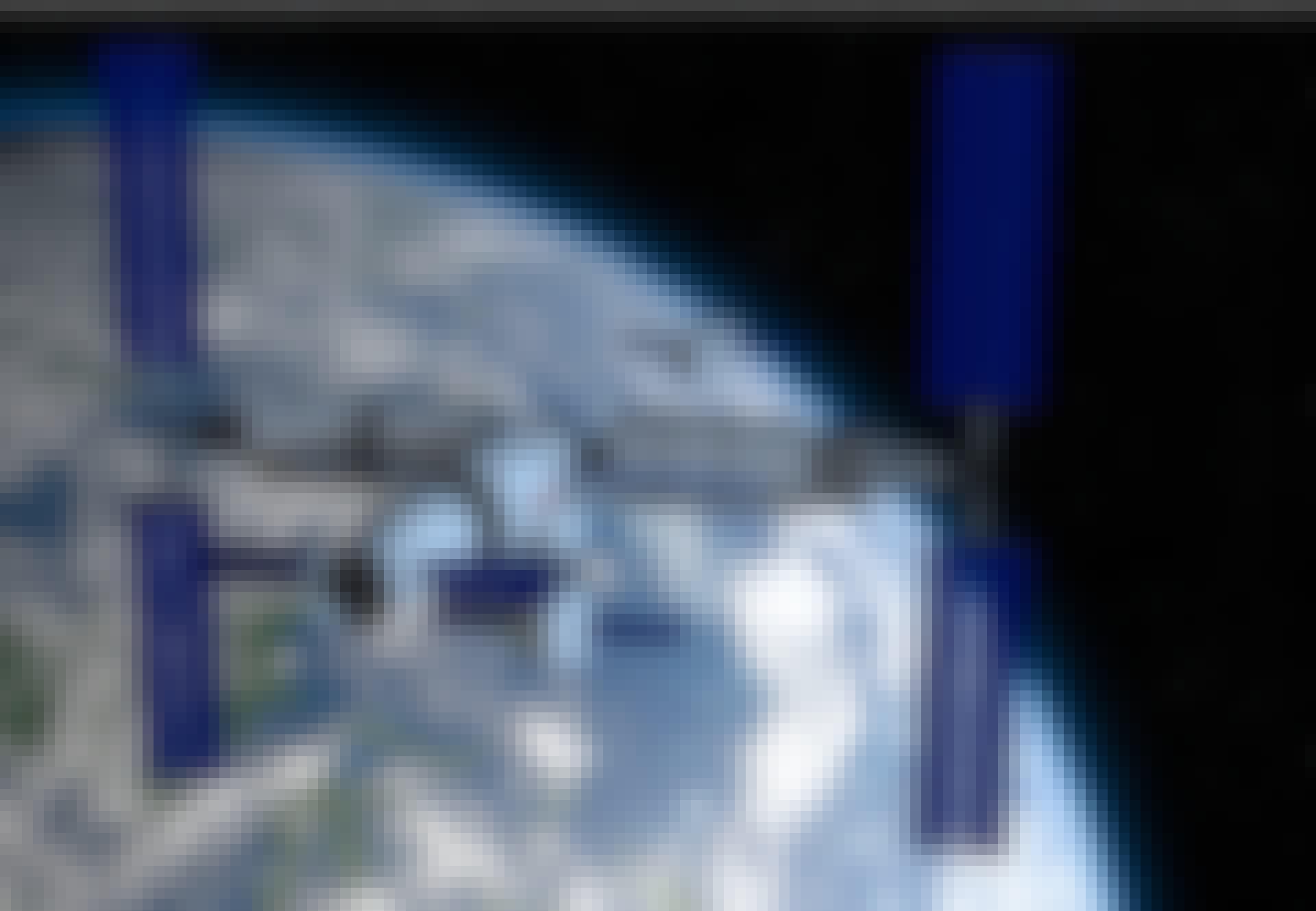 Modell av rymdstationen Tiangong i omloppsbana