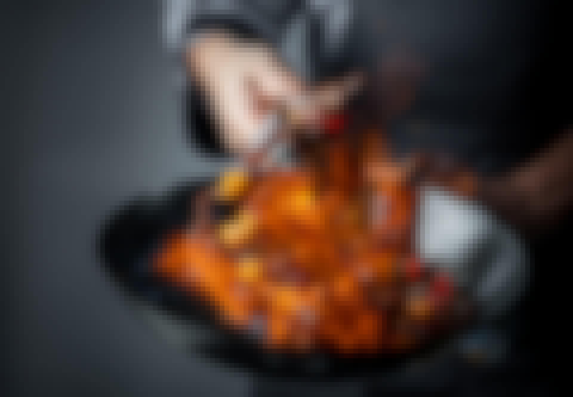 Flambering i wok pande