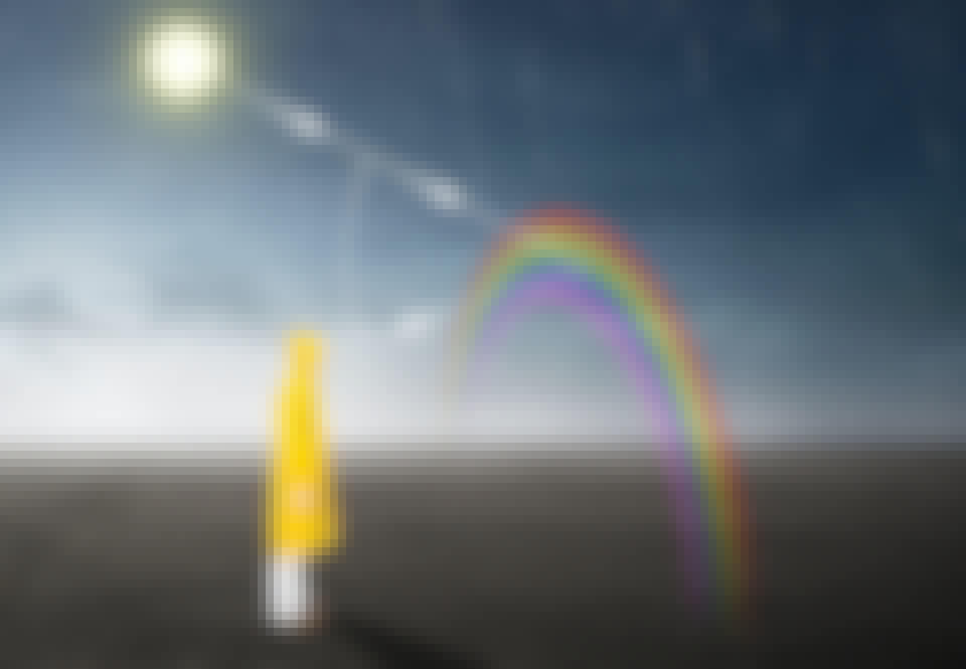 Zo ontstaat een regenboog.