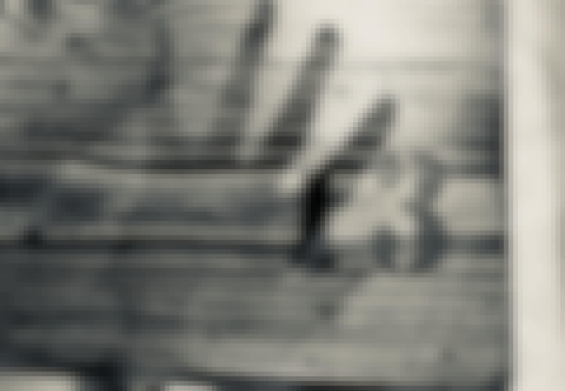 Uhyggelig skygge med tallet tretten i baggrunden