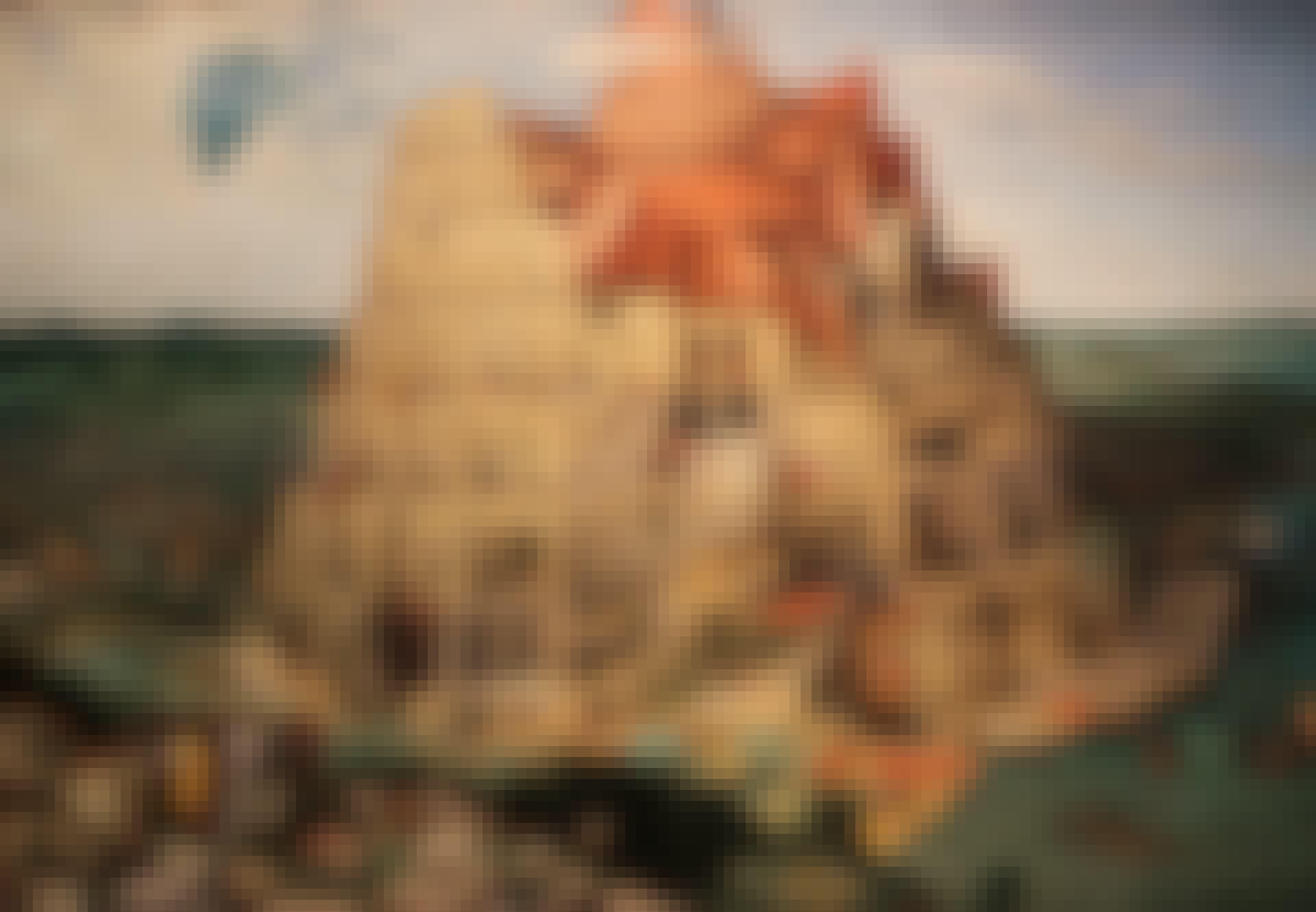 Målning av Babels torn