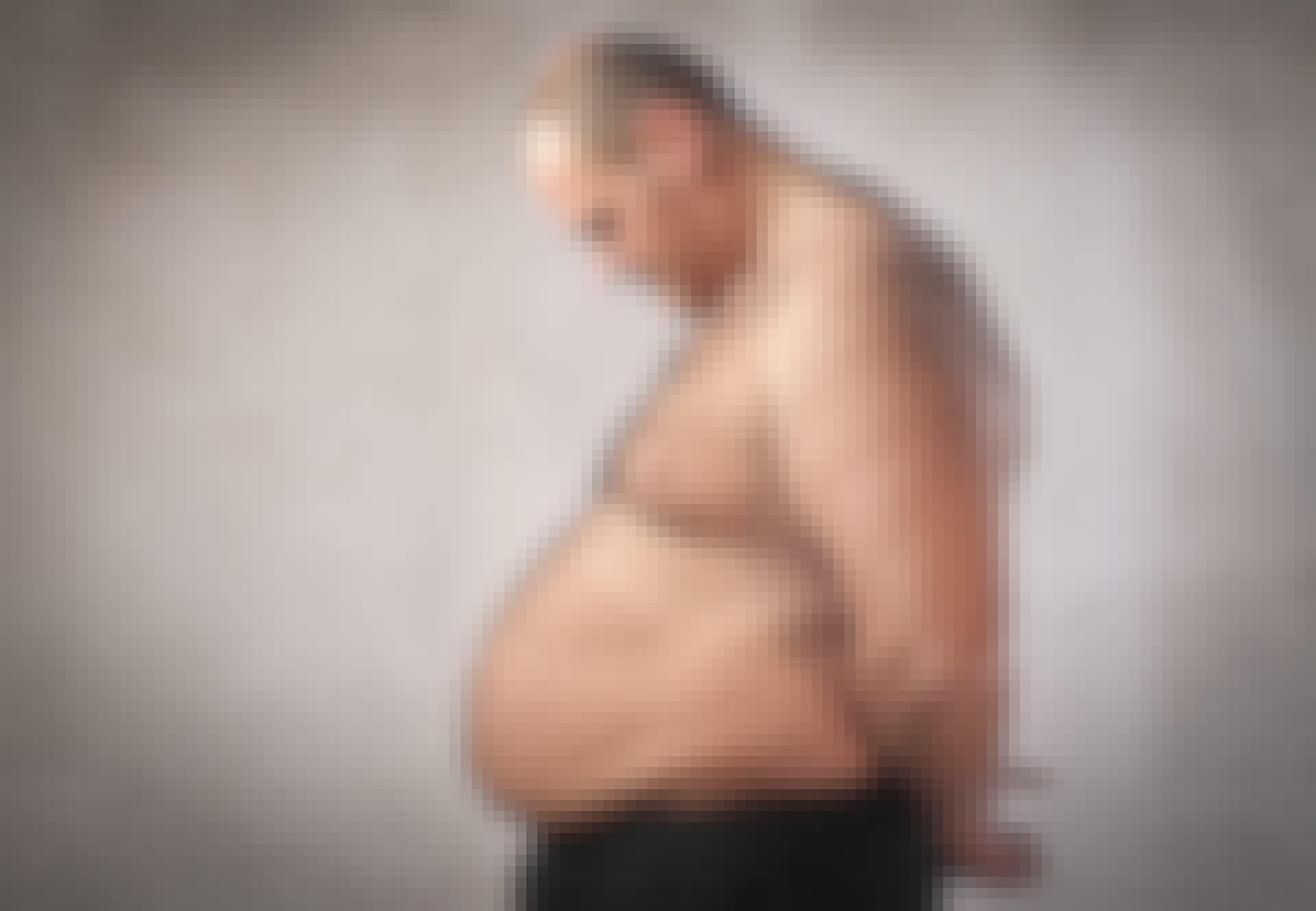 Mand med stor mave